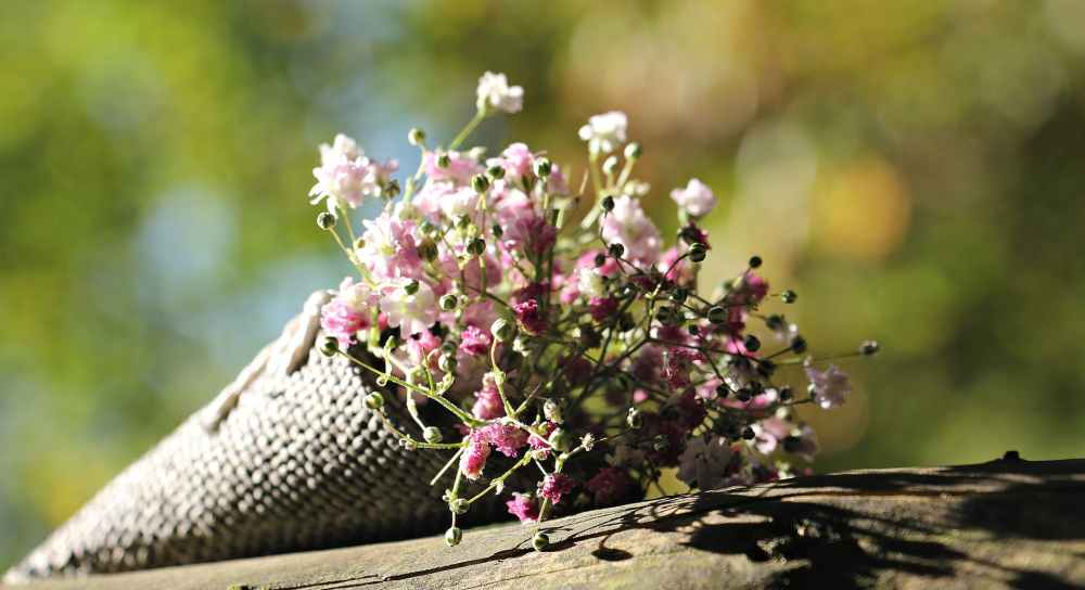 baby s breath blur bouquet close up